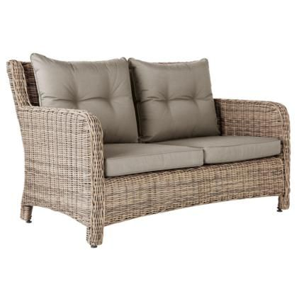 Incroyable New Hampshire 2 Seater Outdoor Sofa, Rattan
