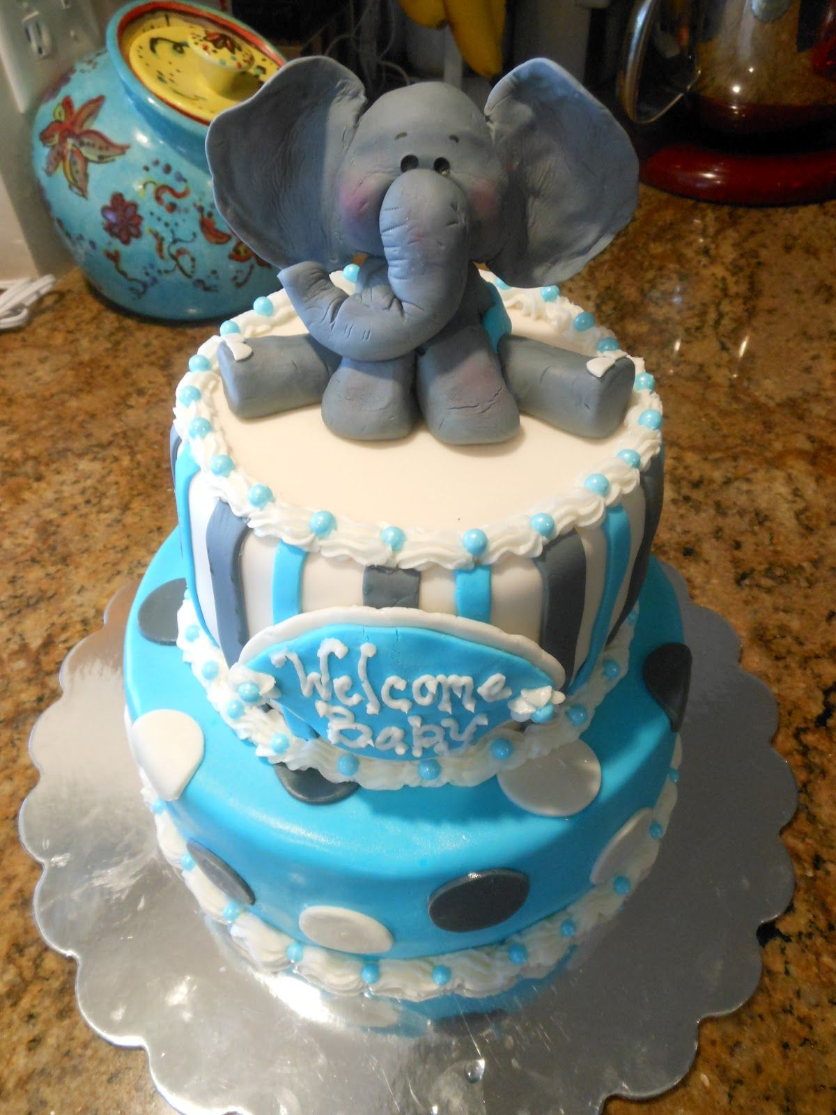 PATTY CAKES Baby Shower Elephant Cake