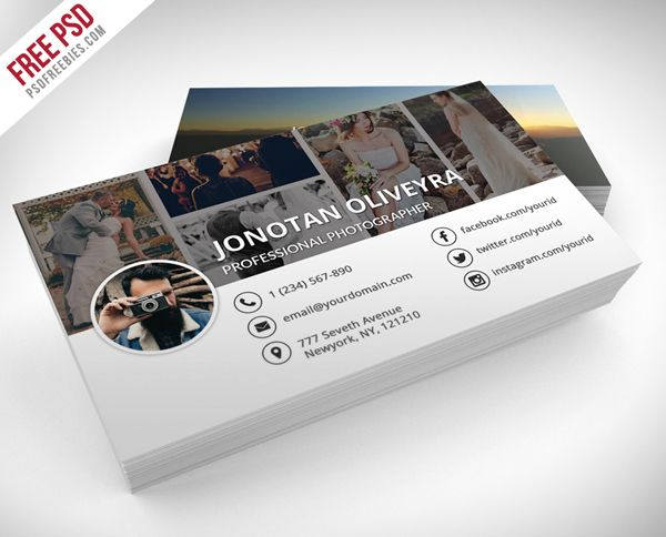 Free professional photographer business card psd template grafika free professional photographer business card psd template fbccfo Image collections