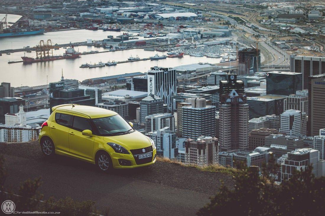 Suzuki Swift Sport With Cape Town Down Below Cwm Chris Wall Media Suzuki Swift Sport Suzuki Swift Wall