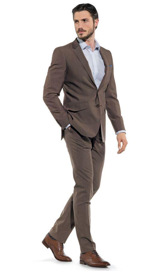 Brown Slim Fit Groom Suit | Groom Suits | Pinterest