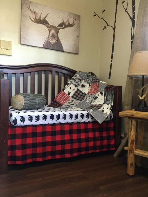 The Woodsman S Lumberjack Nursery Collection Crib Bedding Rustic Woodland Bab