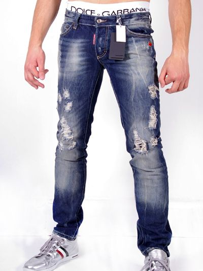 Designer Denim Jeans for Men | Dsquared Stylish Destroyed Jeans  ...