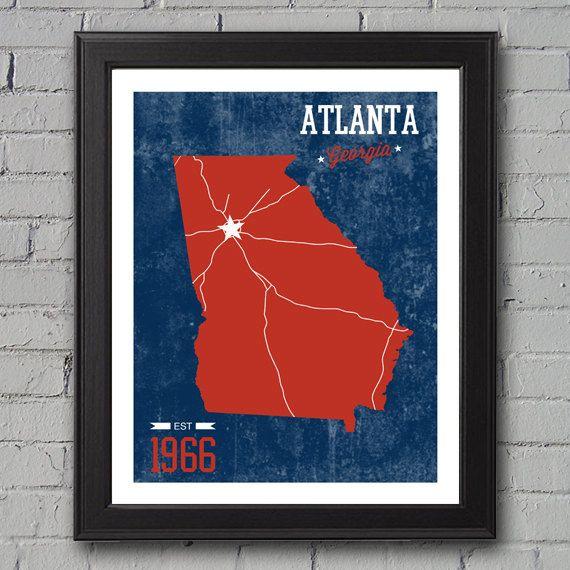 Atlanta Braves Print by UniversityPrints on Etsy, $12.00