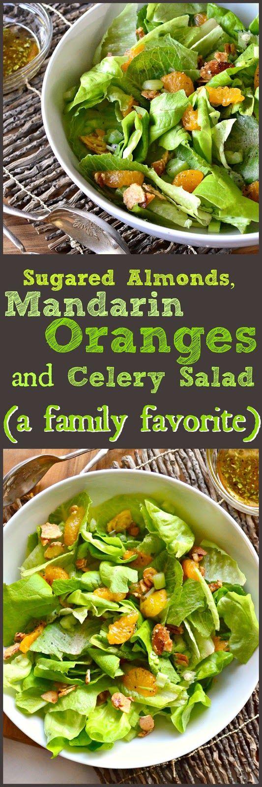 Sugared Almonds and Mandarin Orange, Green Salad | Recipe ...