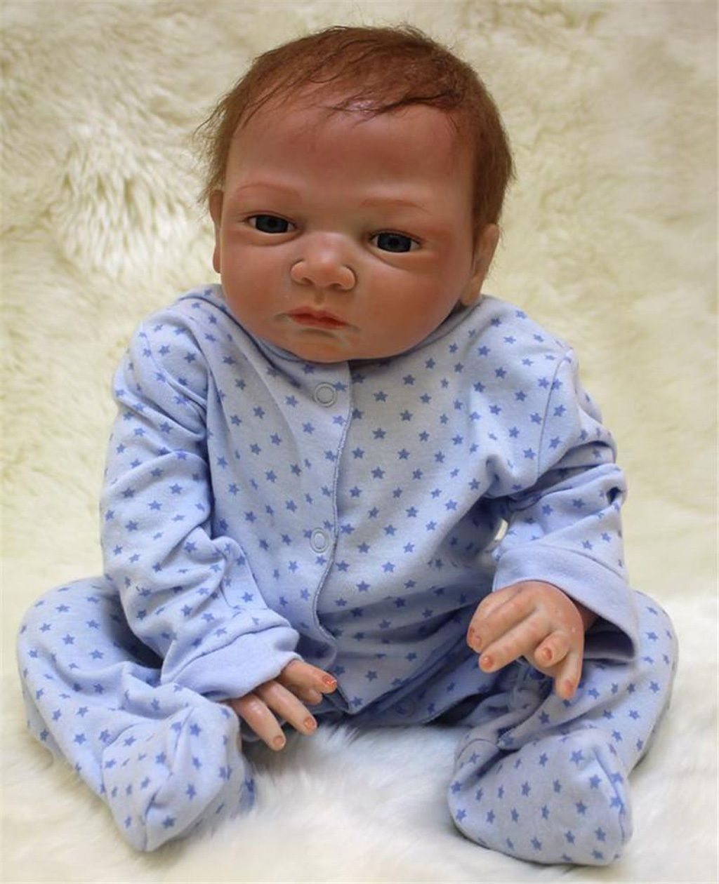 "Newborn Dolls 18/"" Reborn Baby Dolls Lifelike Baby Doll Toddler Toy Gifts"