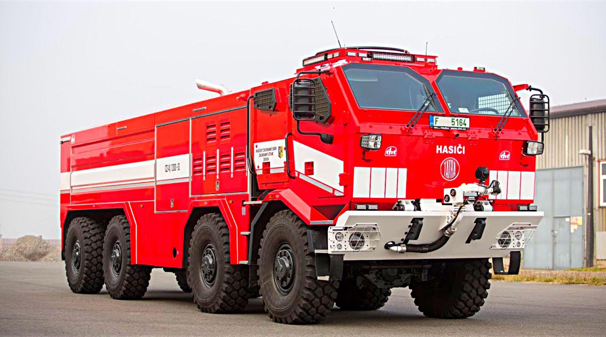 Tatra Czs 40 Titan Fire Truck With Large Volume Tanks Camera