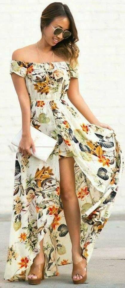 6c8258e0a2cd5 30 Maxi vestidos que puedes usar en tus vacaciones - Beauty and fashion  ideas Fashion Trends
