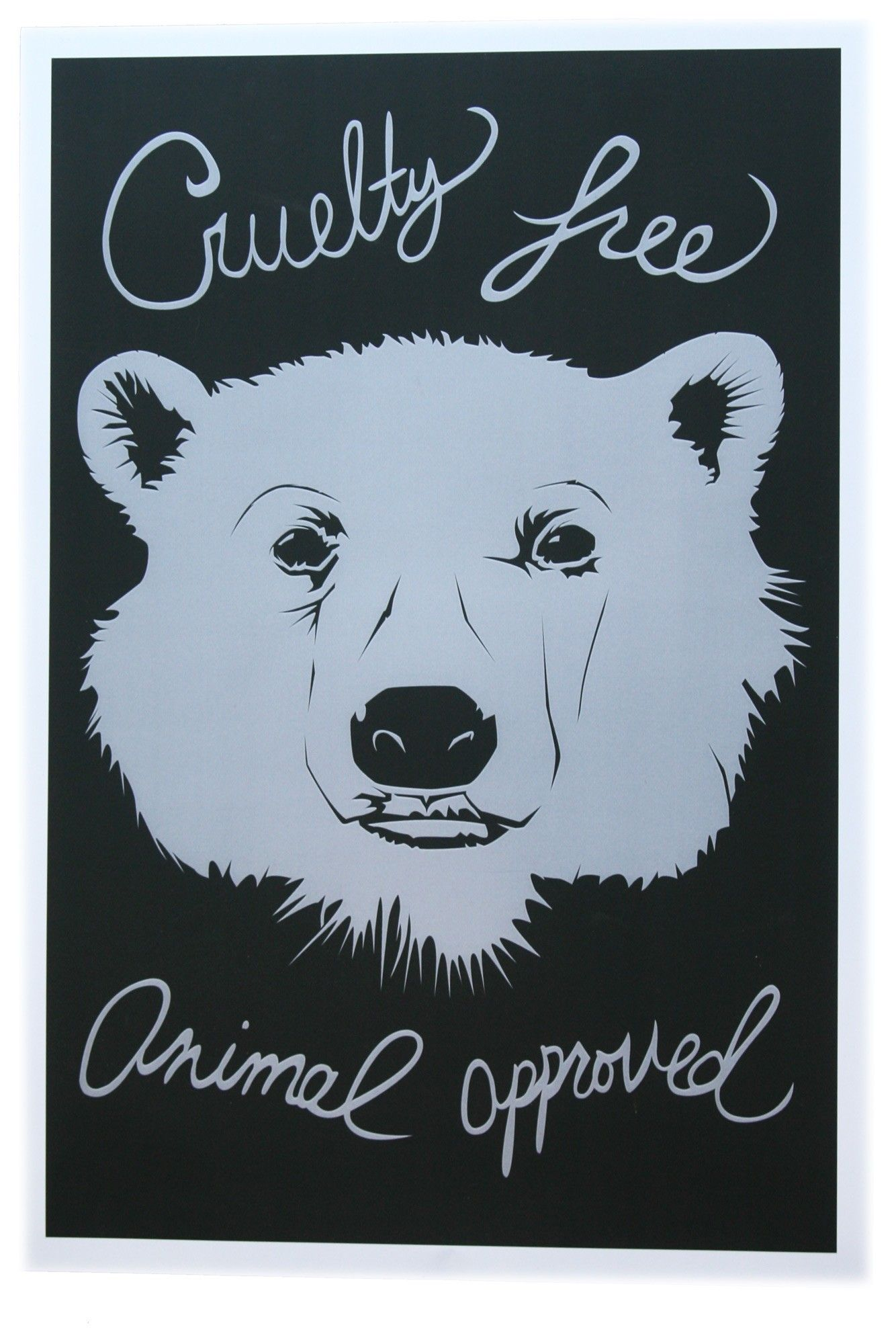 Cruelty Free Bear Poster Free poster, Poster, Cruelty free