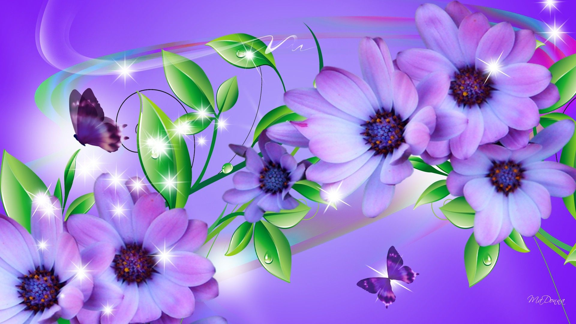 rainbow flowers wallpaper paintings - photo #31