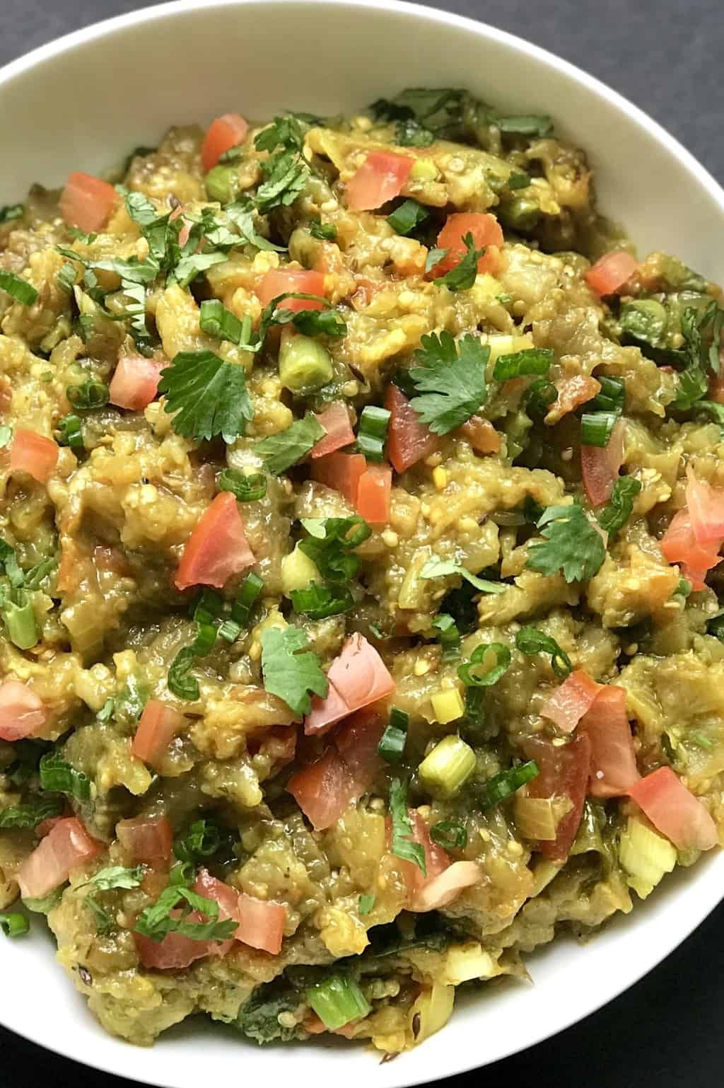 Baingan Bharta Recipe Using Instant Pot Ministry Of Curry Recipe In 2020 Bharta Recipe Indian Vegetarian Dishes Indian Food Recipes