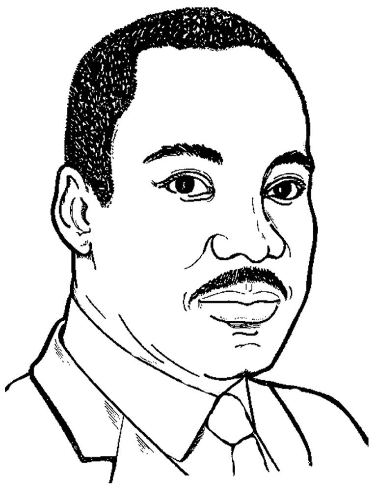 Preschool coloring pages martin luther king - Martin Luther King Jr Coloring Sheet