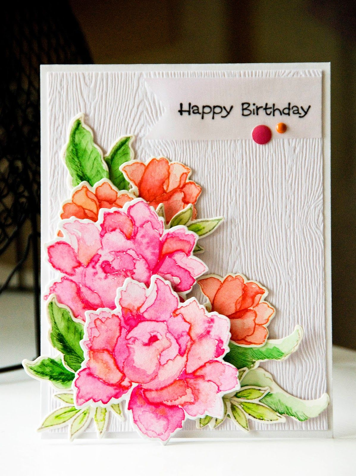 Dictionarys Creative Space Final Altenew Card Happy Birthday