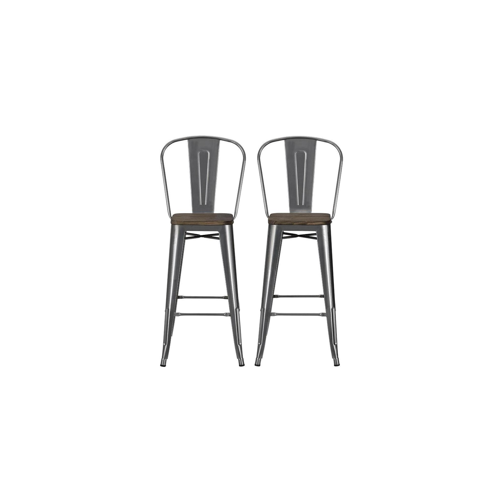 Fabulous 30 Luxor Metal Bar Stool With Wood Seat 2Pc Gunmetal Grey Ocoug Best Dining Table And Chair Ideas Images Ocougorg