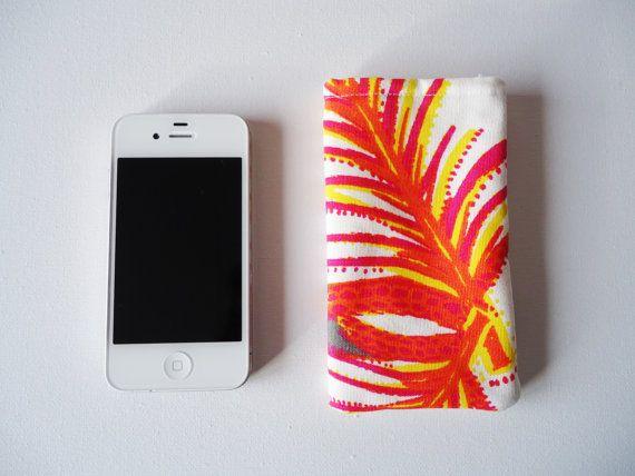 Telefoonhoesje voor iPhone 5 en 5S, roze en oranje telefoonhoes op Etsy, 5,00€