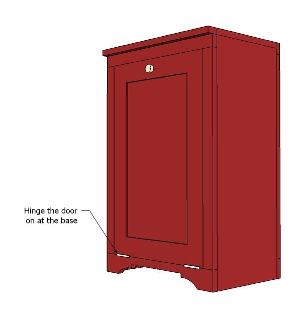 Wood Tilt Out Trash Or Recycling Cabinet Cabinet Woodworking Plans Trash Can Cabinet Diy Home Decor Projects