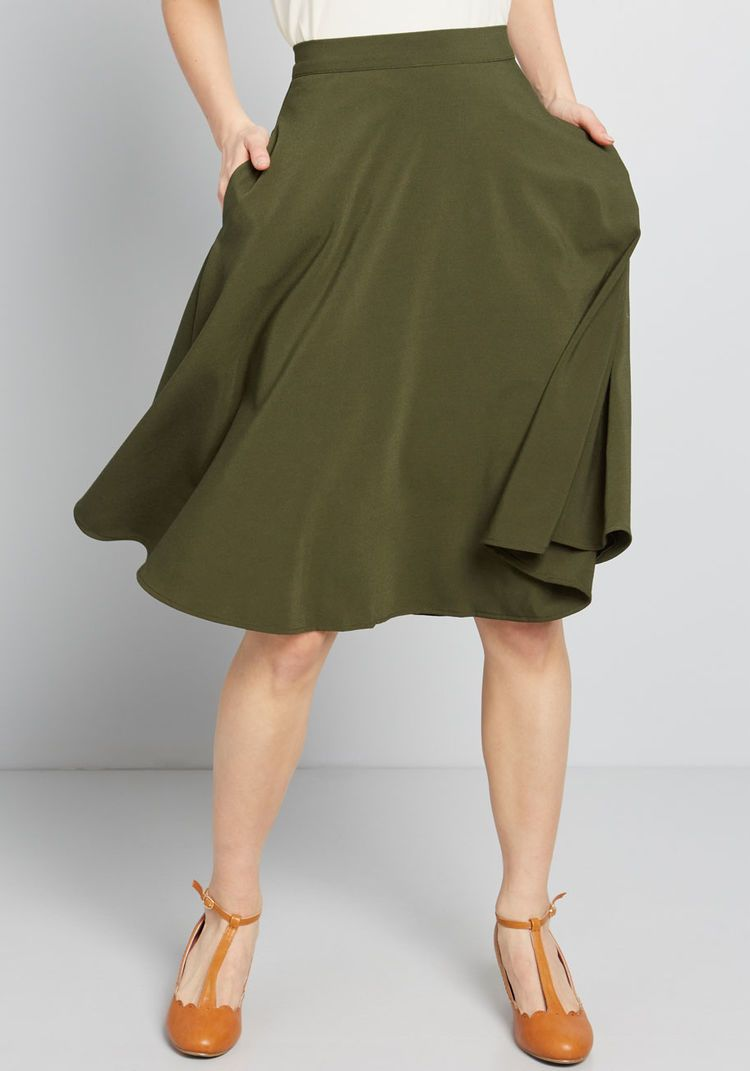 Just This Sway A-Line Skirt