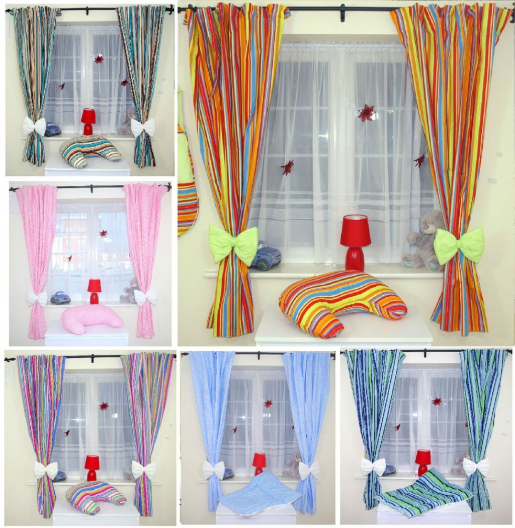 Collections Of Striped Tie Back Nursery With Baby Room Curtain Curtains