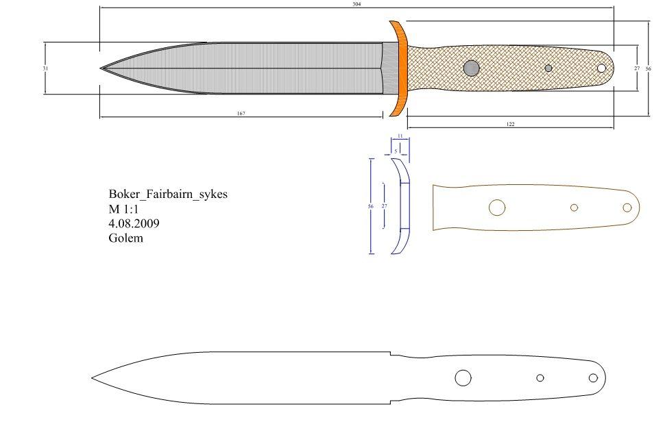 Loveless Knife Template