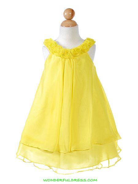 3ecfb7391125 yellow flower girl dresses | moda | Pajes de boda, Vestidos largos, Boda