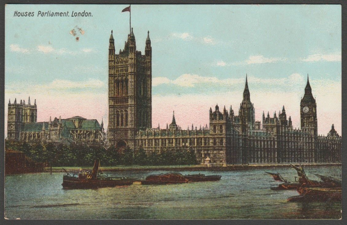 Houses Of Parliament London C 1905 Postcard Item Number