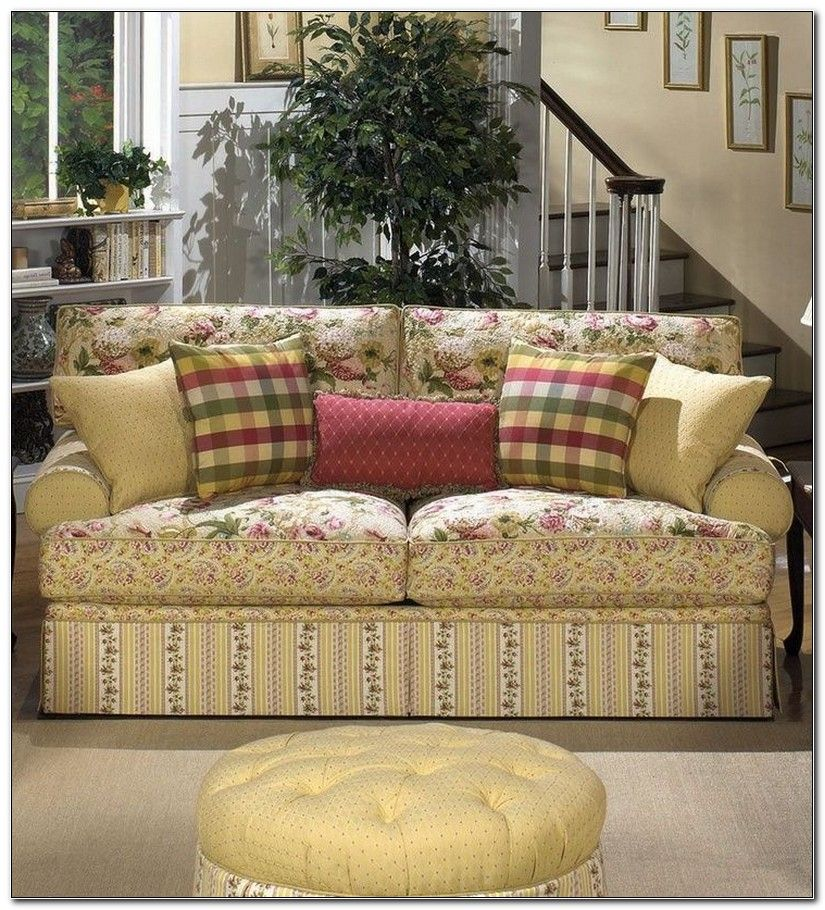 Country Print Sofas Cottage Style Sofa Country Style Living Room Country Living Room Furniture