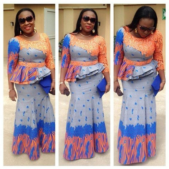 09d7c4e8696f6f Latest Ankara and Lace Skirt and Blouse Styles for Ladies...Latest Ankara  and Lace Skirt and Blouse Styles for Ladies