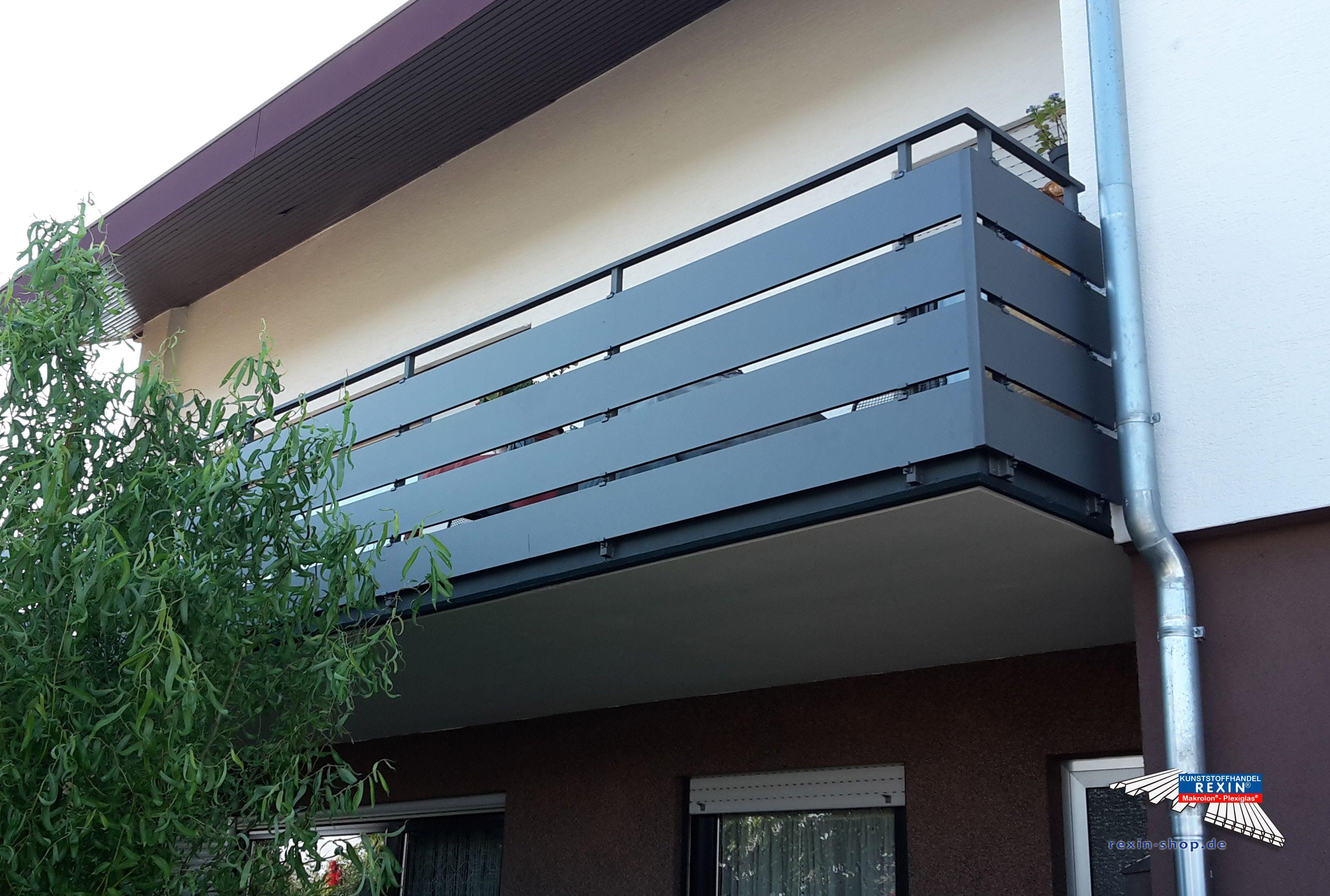 alu balkonbretter der marke rexoboard in anthrazit mit e. Black Bedroom Furniture Sets. Home Design Ideas