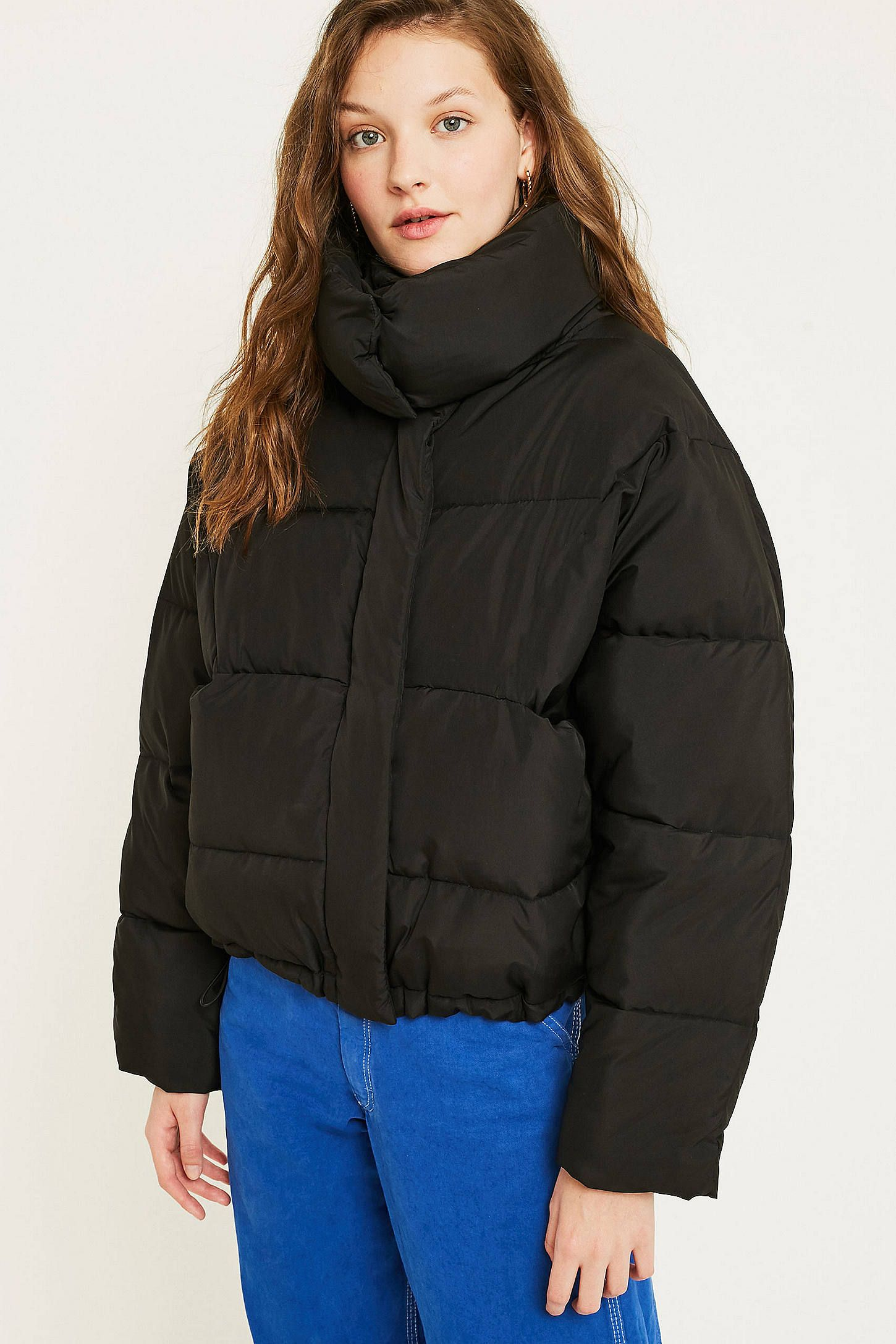 Uo Black Contrast Lined Pillow Puffer Jacket Puffer Jacket Black Jackets Puffer Jackets [ 2175 x 1450 Pixel ]