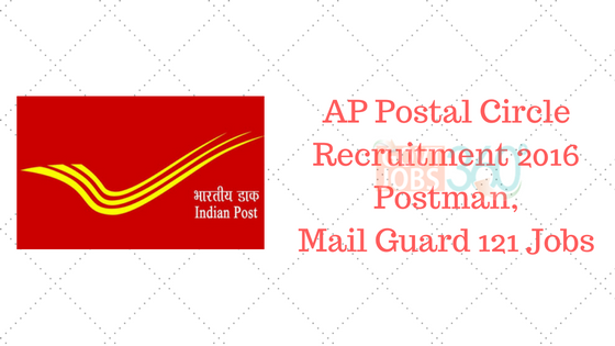 AP Postal Circle Recruitment 2016 Postman, Mail Guard 121 Jobs