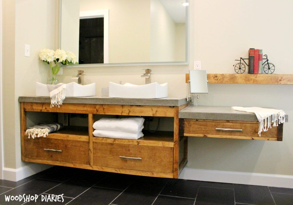 How To Build A Diy Modern Floating Vanity Or Tv Console With