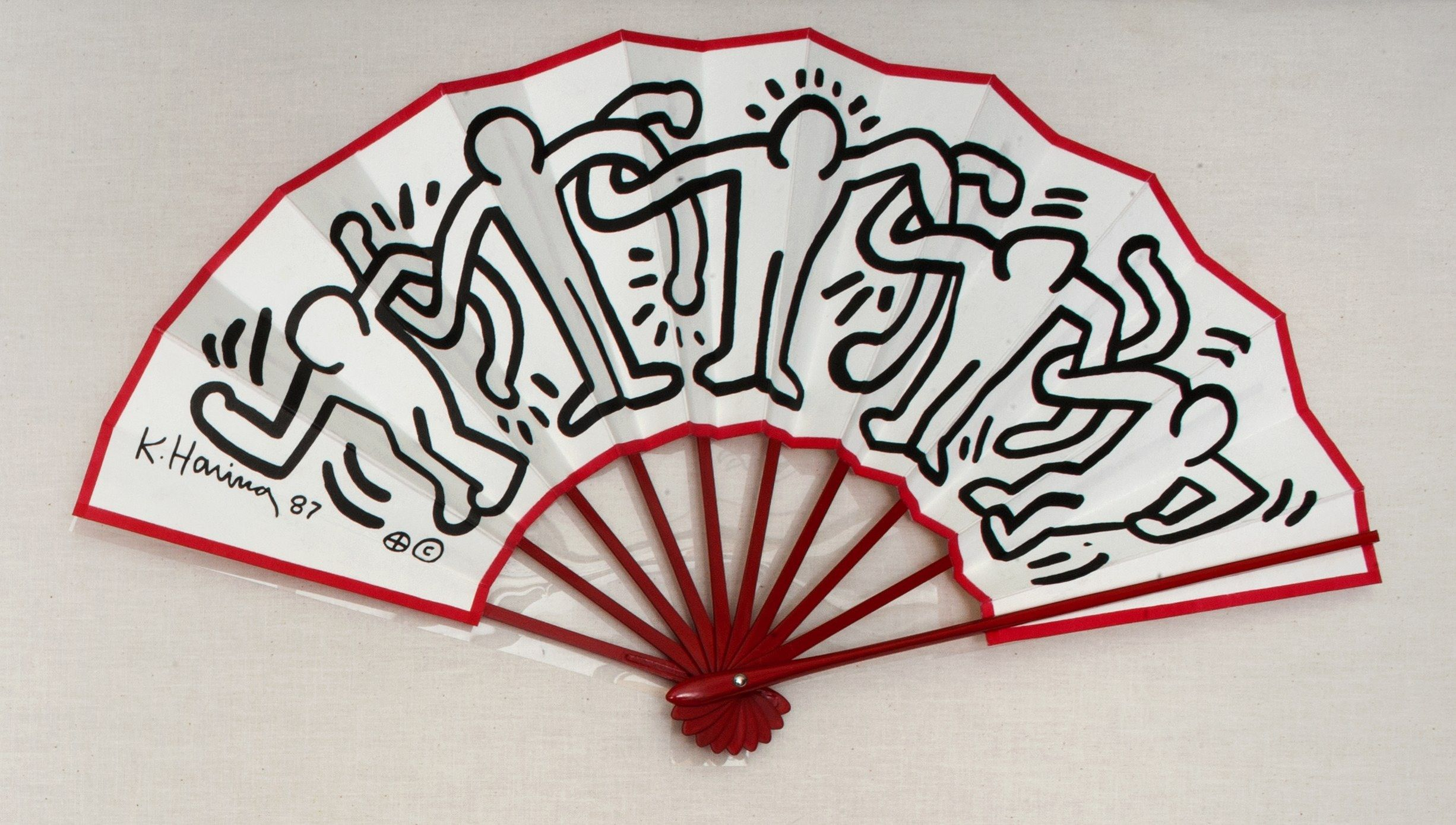 Keith Haring folding fan sold at The Pop Shop (With images ...
