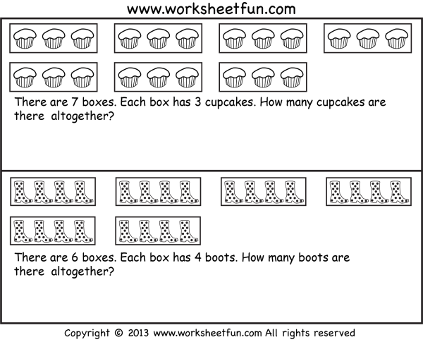 Repeated Addition – Multiplication – Word problems – Seven ...