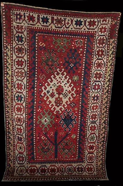 Antique Zakatala rug, North Azerbaijan, 19th century