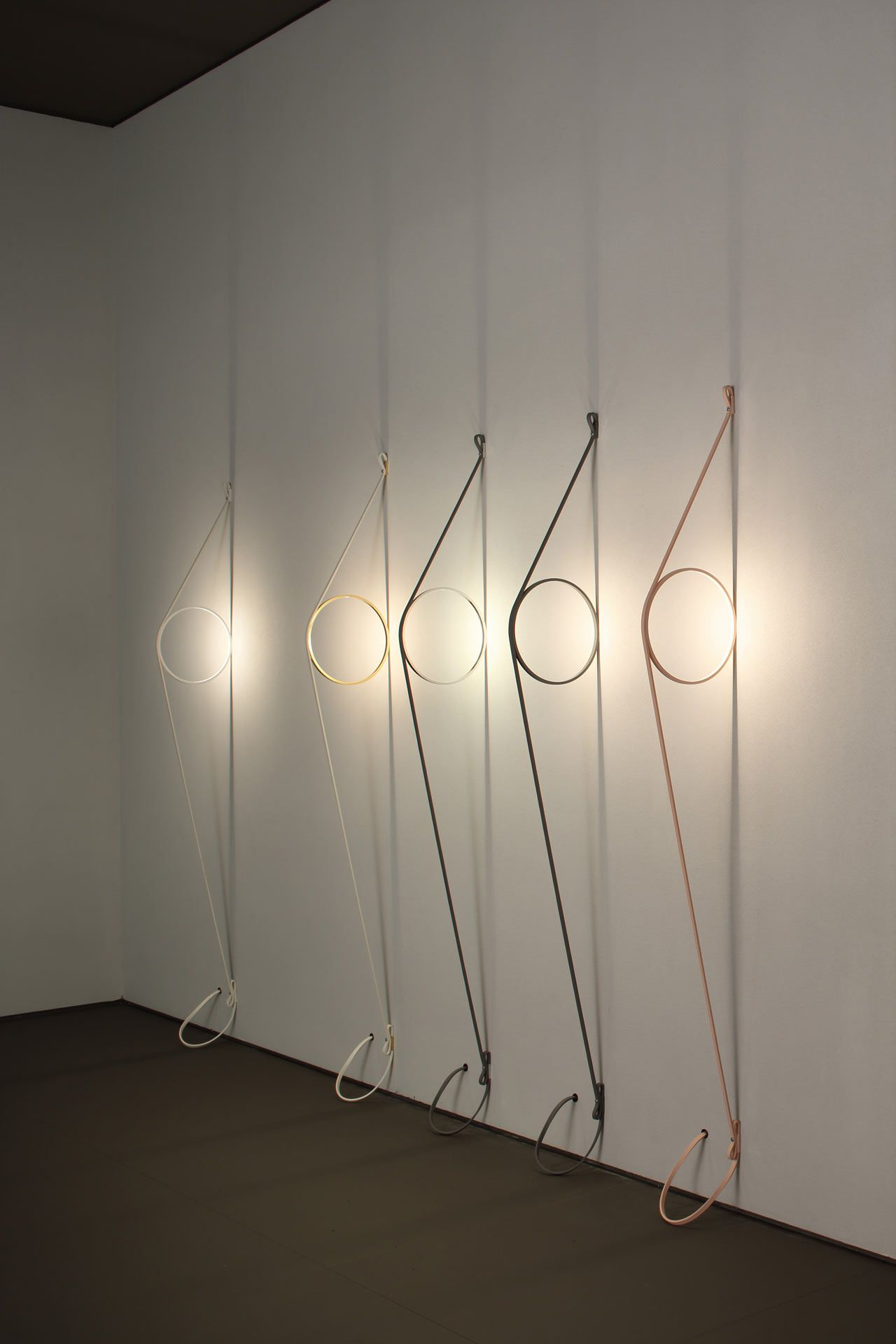 Arte Murano Diego Vidal Wirering Is A Sculptural Light That Hovers Between A Wall And A