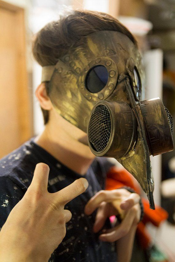 """/""""The Post Apocalyptic  Mickey /""""  gas mask LARP  burning Steampunk Leather man"""
