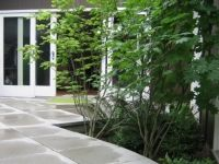 Seamless Flat Entry With Large Concrete Paver And Easy To Care For
