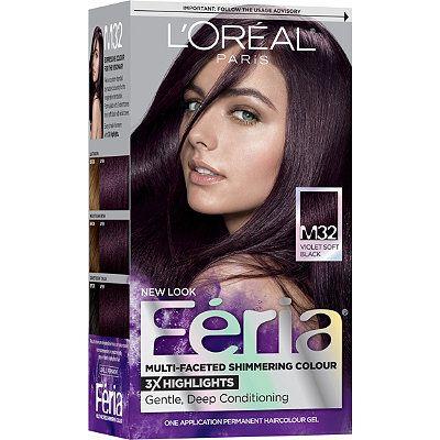 L Oreal Feria Multi Faceted Shimmering Colour Violet Soft Black