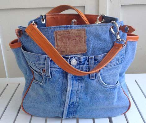 jeans taschen cool stuff pinterest jeans tasche jeans und jeanstasche. Black Bedroom Furniture Sets. Home Design Ideas