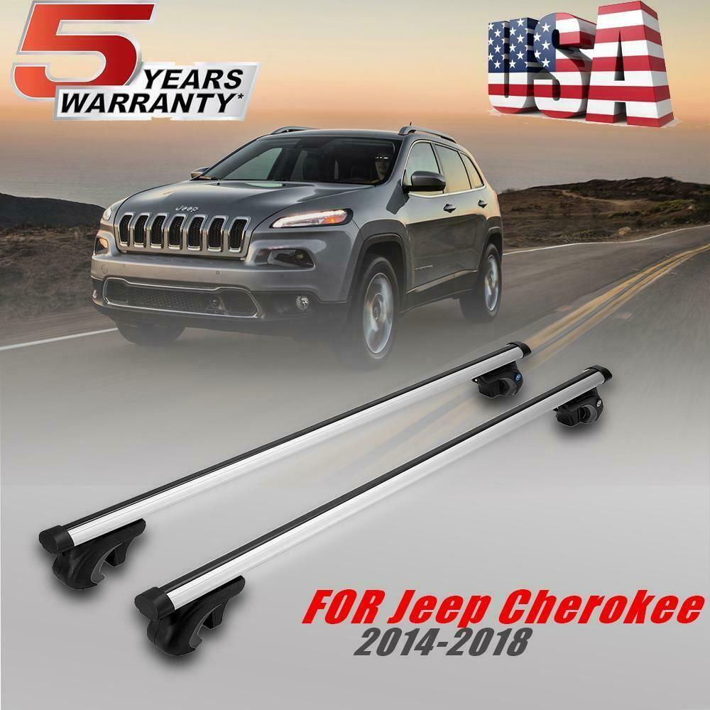 Ebay Sponsored For Jeep Cherokee 2014 2017 Roof Rail Rack Cross Bars Basket Carrier Oem Replace Jeep Cherokee Jeep Cherokee 2014 Jeep