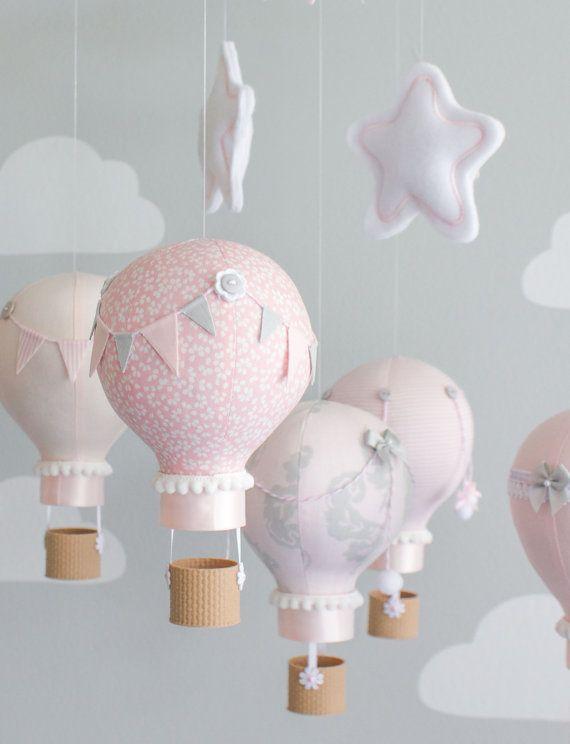 Aire caliente globo bebé móvil decoración por sunshineandvodka ...