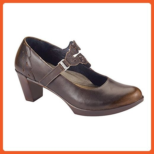 Naot Amato Prima Bella Women Pumps Shoes, Volcanic Brown Leather,Size - 38 -