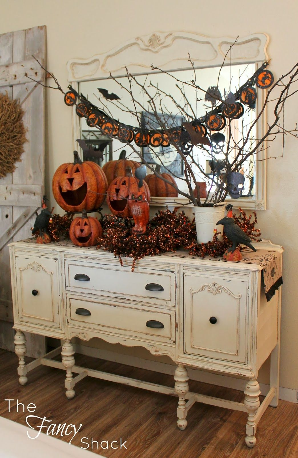 The Fancy Shack Halloween Vignettes Autumn Decor Pinterest - Halloween Table Decorations Pinterest