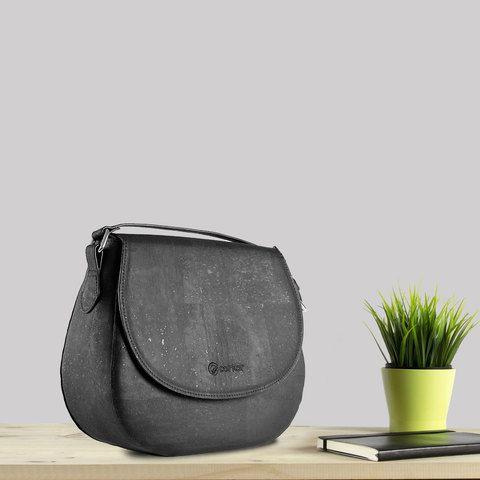 09bb5a788cfbf Corkor Kork Umhängetasche Handtasche Black