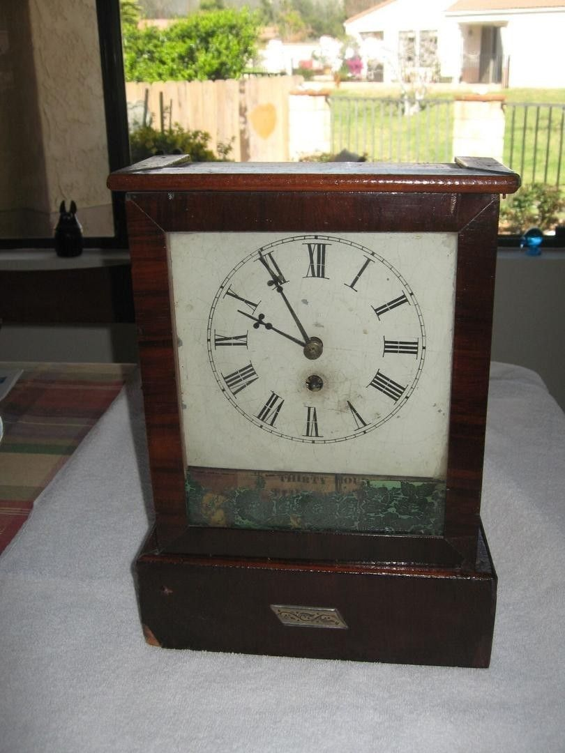 This antique clock is a thirty hour timepiece and was made with this antique clock is a thirty hour timepiece and was made with original hand made amipublicfo Images