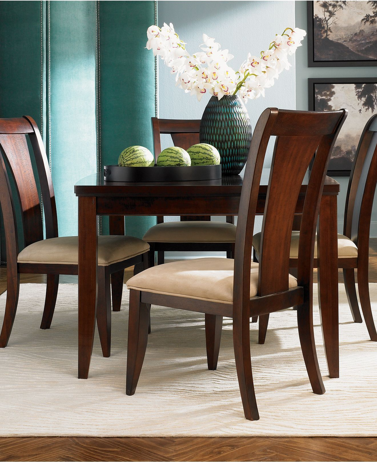 Metropolitan Dining Room Sets   Furniture   Macyu0027s $1189 7 Piece Set. Table  40x66