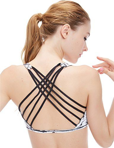 icyzone Womens Workout Yoga Clothes Strappy Crisscross Racerback Sports Bras *** Check the link at the image.
