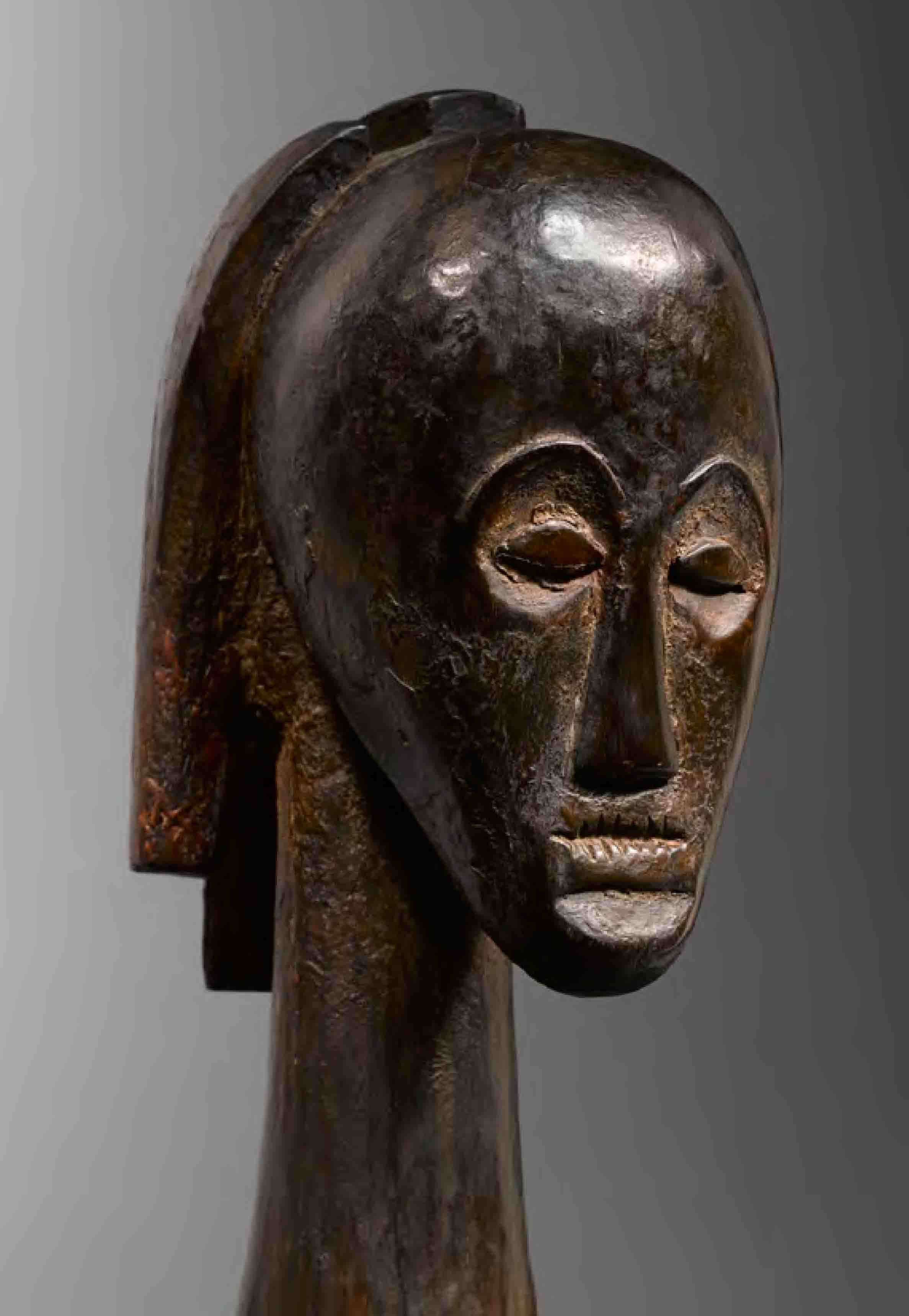 """Africa   'Angokh nlo byeri' reliquary figure from the Fang people of Gabon    wood   ca. 1938   Literally translated, angokh nlo byeri means """"the  entire head of …"""