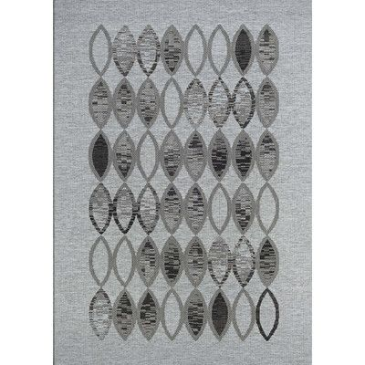 """Varick Gallery Scorpius Gray/Black Indoor/Outdoor Area Rug Rug Size: Runner 2'3"""" x 11'9"""""""