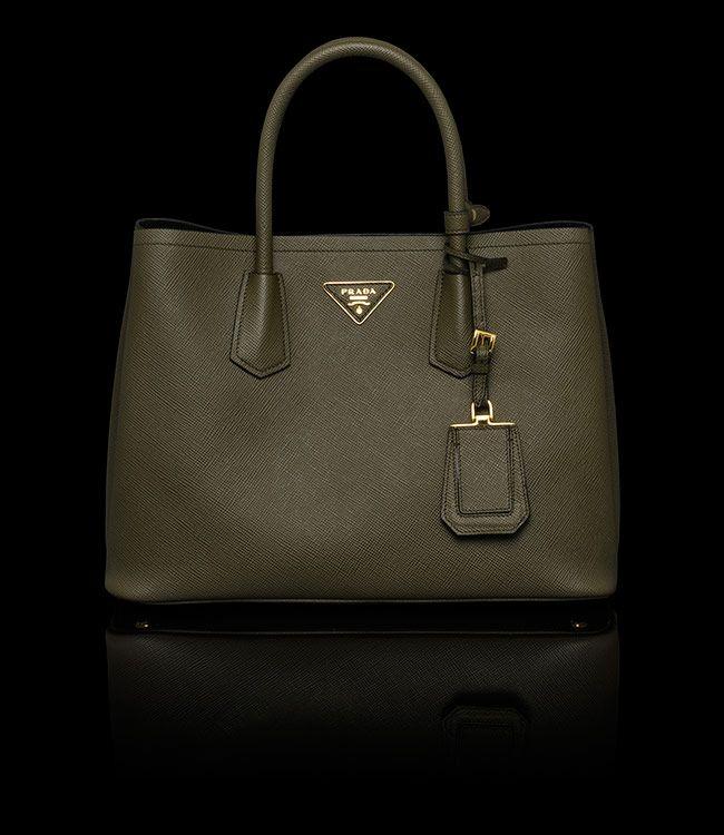 a82acd7ce7 Prada double bag - military green